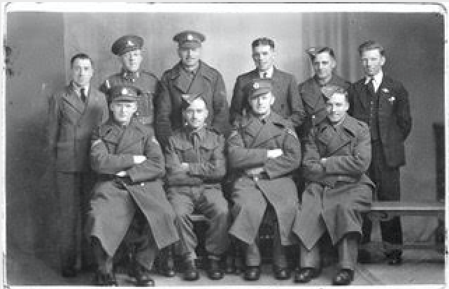 Private George Herbert Eland: Front row first on right
