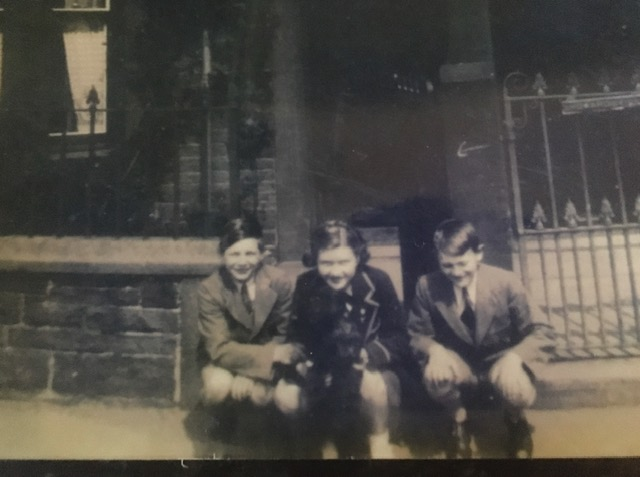 Peter White, Sheila Thompson and Brian Phillips, Penrith during WW2.